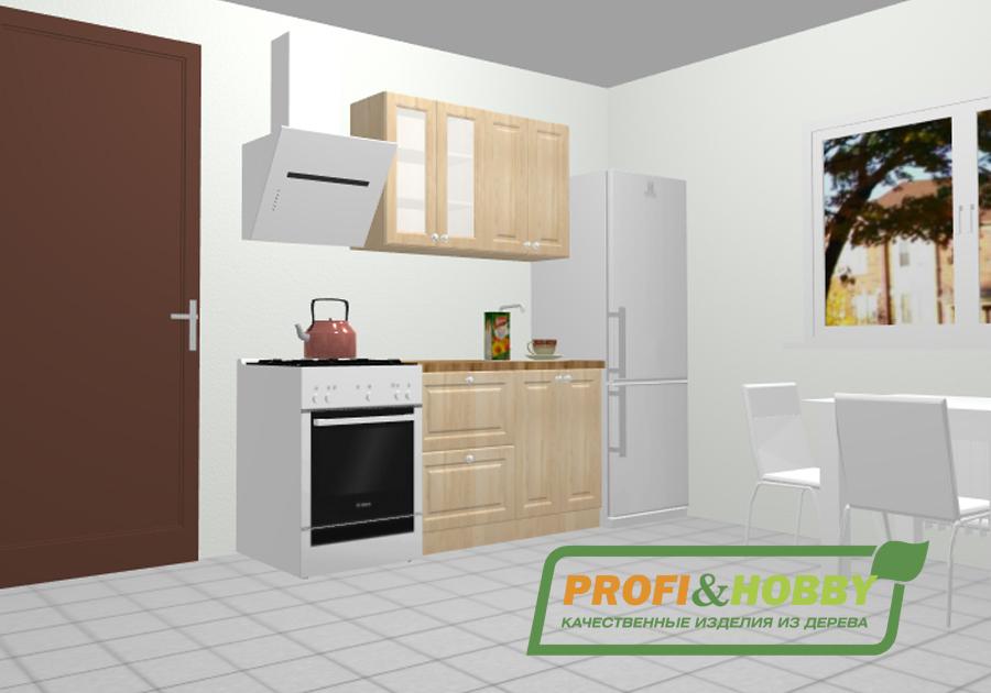 Кухня 1.2 х 2.32 м, массив сосны, без покраски - купить в Москве за 26 720 руб.