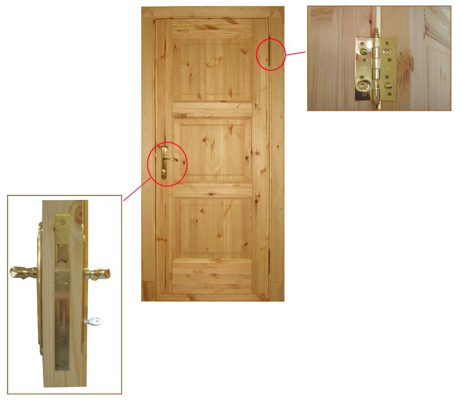 толщина входной двери из сосны