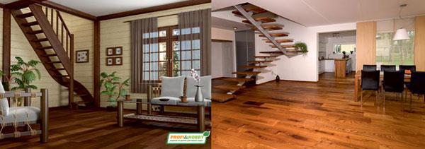 лестница по акции при покупке деревянного дома